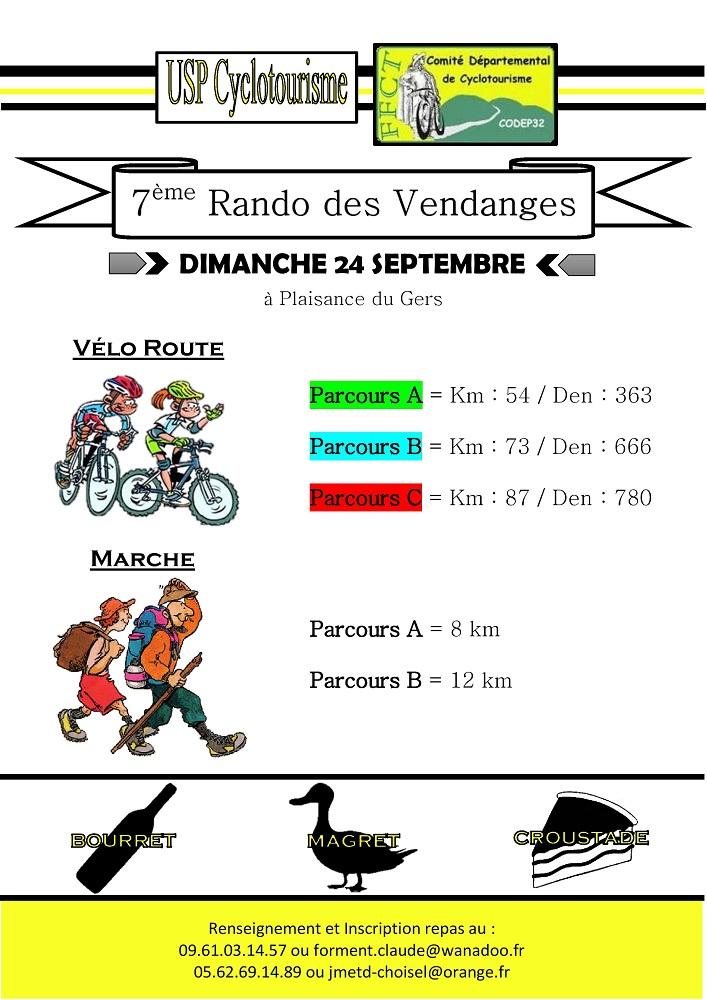 Affiche Rando Vendanges